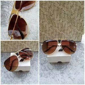 Accessories - Mesh Wire Round Sunglasses Women Brand new Metal